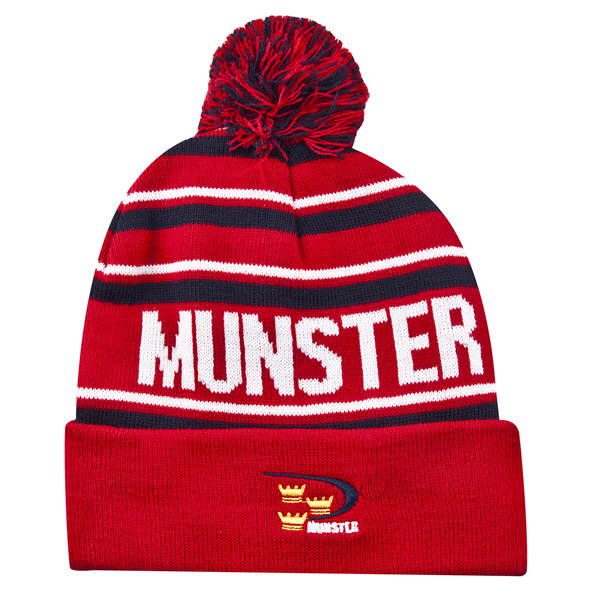 Tradcraft Munster Bobble Beanie Navy/Red