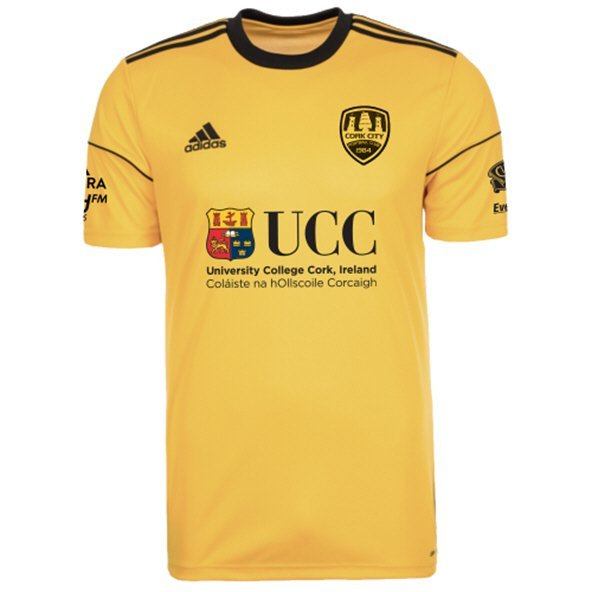 adidas Cork City 2019 Kids' 3rd Jersey, Gold