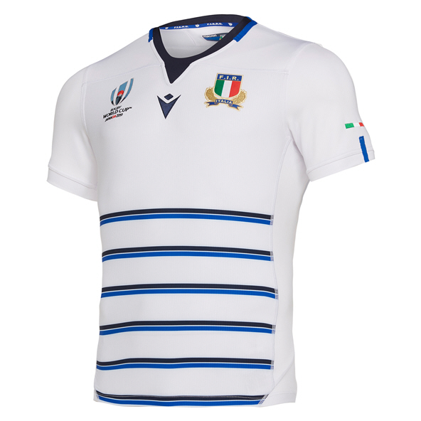 Macron Italy Away RWC 19 Jersey White