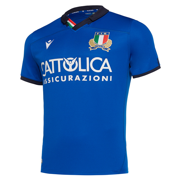 Macron Italy Home 19 Kids Jersey Blue