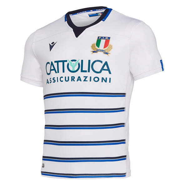 Macron Italy Away 19 Kids Jersey White