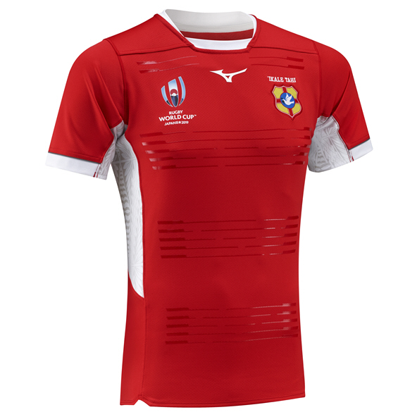 Mizuno Tonga RWC 19 Home Kid Jersey Red