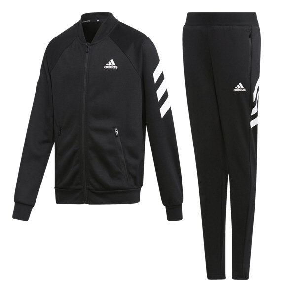 adidas 3S Girls TSuit Black/White