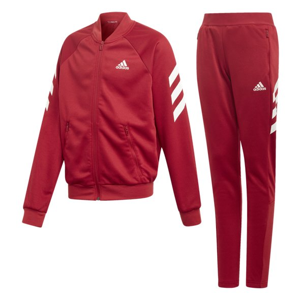 adidas 3S Graphic Girls TSuit Maroon