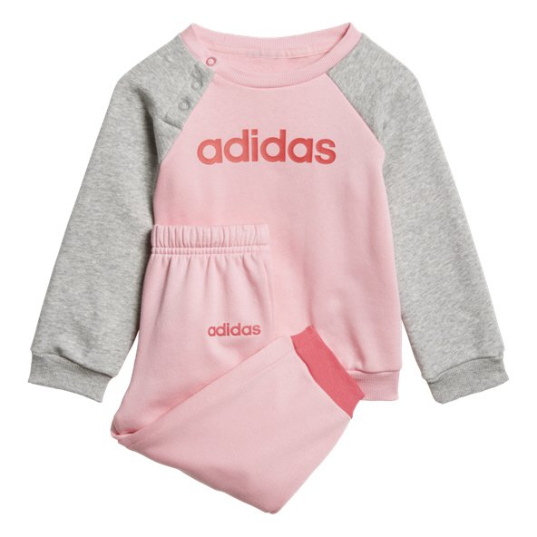 adidas Linear Jogger Fleece Girls' Tracksuit, Light Pink