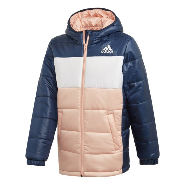 adidas Synthetic Girls' Padded Jacket, Navy