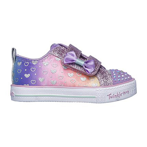 Skechers Sparkly Hearts Infant Girls' Trainer, Purple