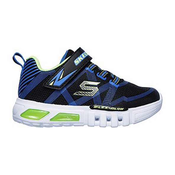 Skechers Flex Glow Infant Boys' Trainer, Black