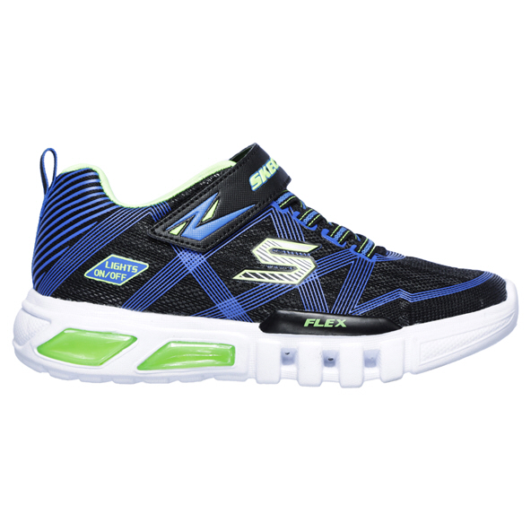 Skechers Flex-Glow Jnr Boy Fw Black/Lime