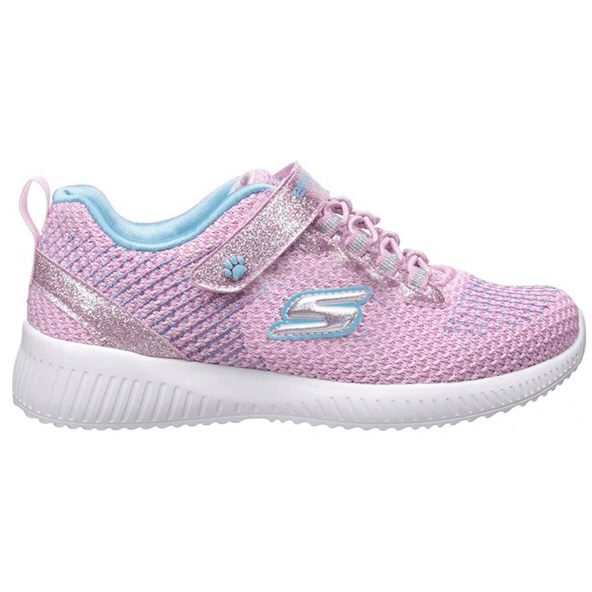 Skechers Lil' Bobs Squad Junior Girls' Trainer, Pink