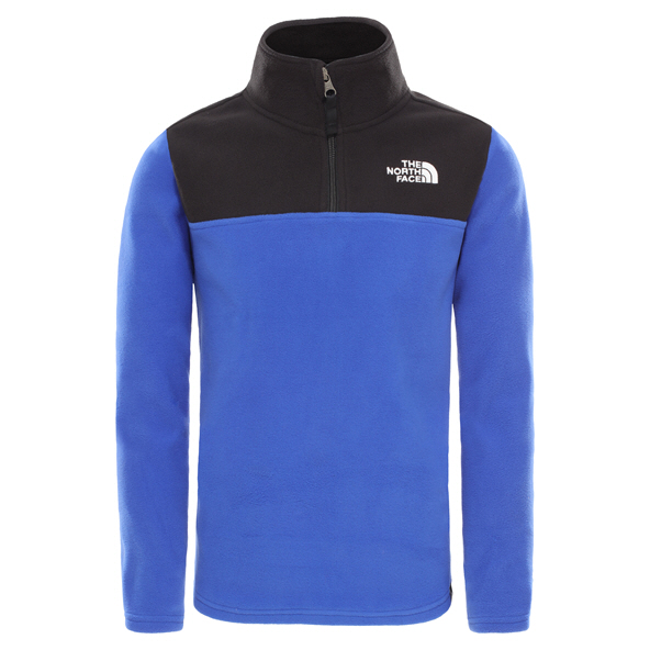The North Face Glacier ¼ Zip Boys' Jacket, Blue