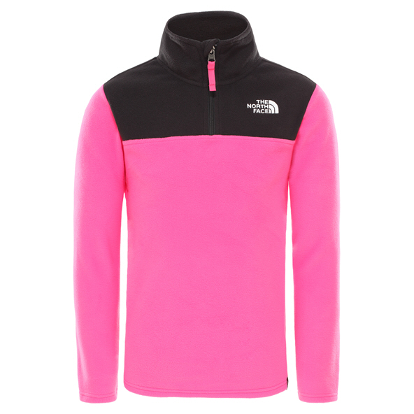 The North Face Glacier ¼ Zip Girls' Jacket, Pink