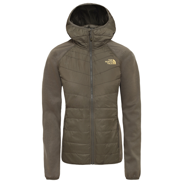 The NorthFace Arashi Hyrbid Women's Jacket Green