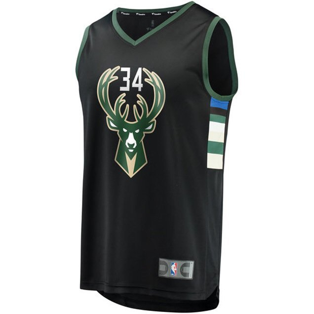 new arrival bfc5f 57211 Nike Bucks Away Giannis Jersey Black | Elverys Site