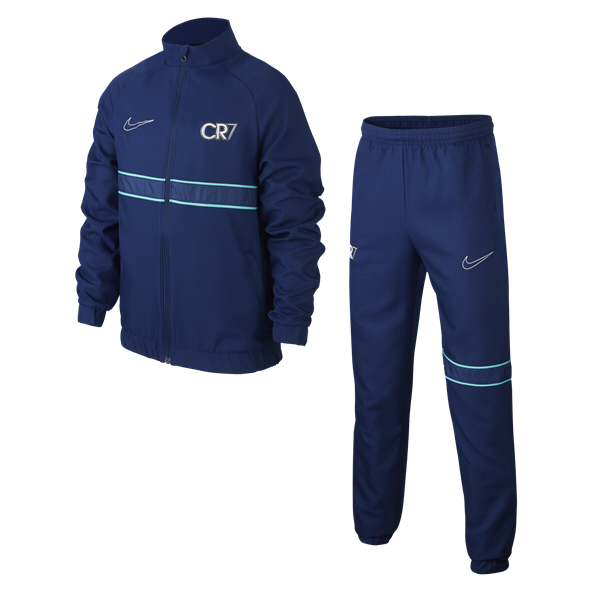 Nike CR7 Dry Boys TSuit Blue/Jade