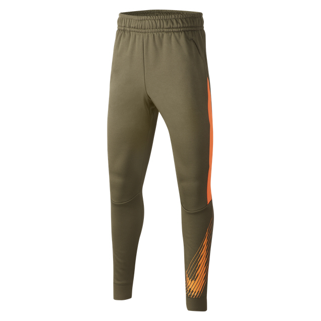 Nike Therma Tapered GFX Boys' Pant, Olive