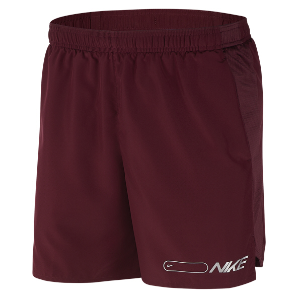 "Nike Air 7"" Challenger Men's Running Short, Maroon"