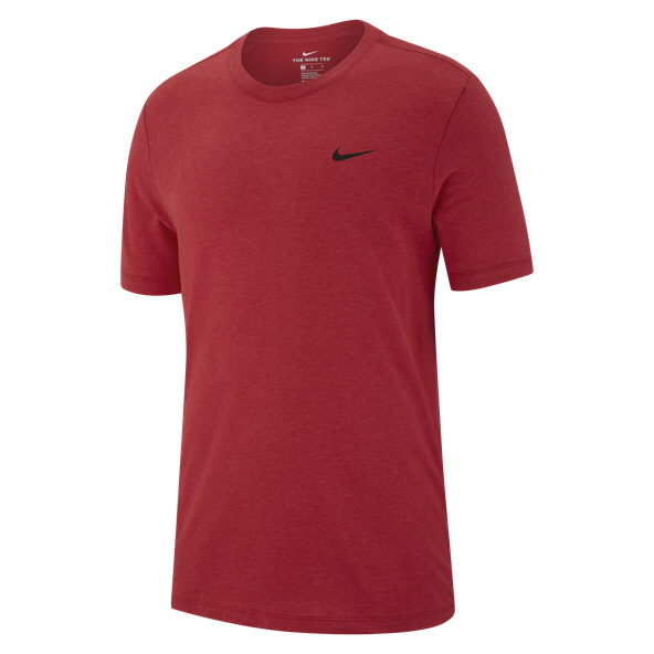 Nike Dry Solid Mens Crew Red/Htr