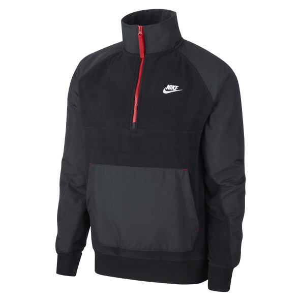 Nike Swoosh Winter Men's Half Zip Top Black