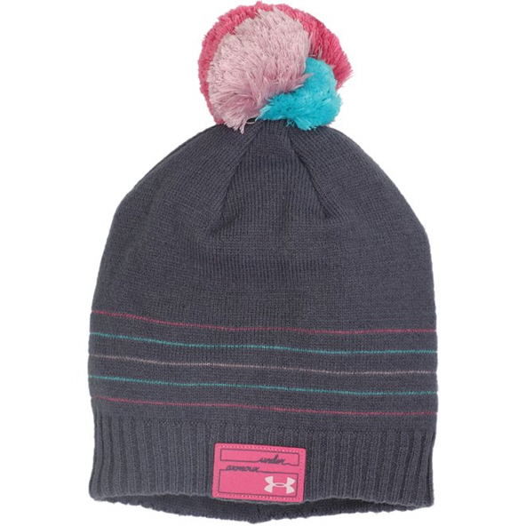 UA Triple Scoop Girls' Beanie Grey/Pink