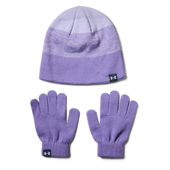 UA Beanie Glove Girls' Combo Purple/White