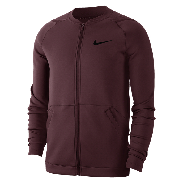 Nike Pro Men's Fleece Jacket Maroon