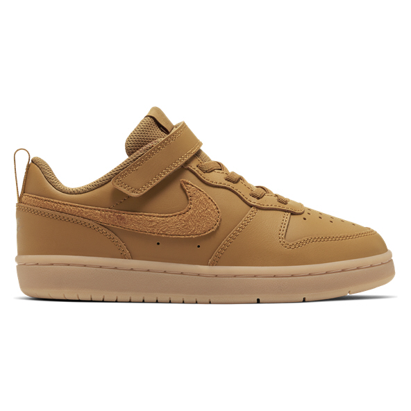 Nike Court Borough Low 2 Junior Boys' Trainers Wheat
