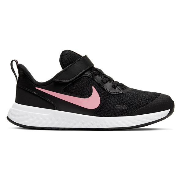 Nike Revolution 5 Junior Girls' Trainer, Black