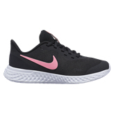 Nike Revolution 5 Girls' Running Shoe, Black