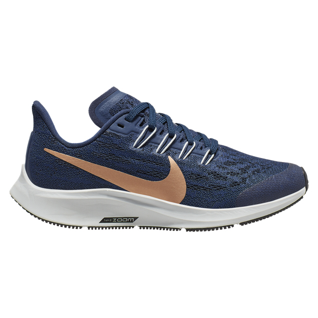 Nike Zoom Pegasus 36 Girls' Running Shoe, Navy