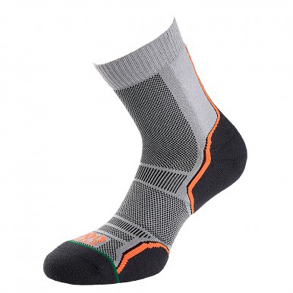 1000 Mile Trail Men's 2Pack Socks Grey/Orange
