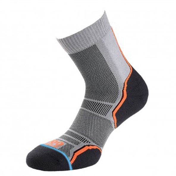 1000 Mile Trail Women's 2Pk Socks Grey/Orange