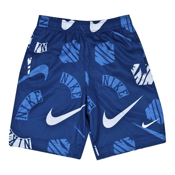 Nike Aop Dry Jnr Boys Shorts Blue