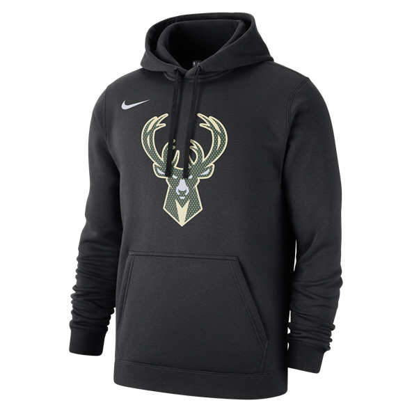 Nike Milwaukee Bucks PO Logo Hoody Black