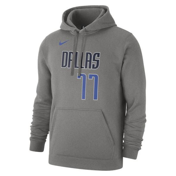 Nike Doncic Dallas Mavericks Hoody, Grey
