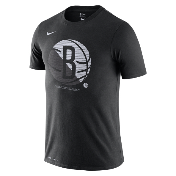 Nike Brooklyn Nets Logo T-Shirt Black
