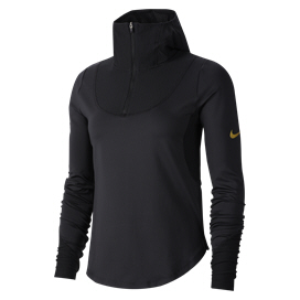 Nike Glam Long Sleeve Midlayer Women's Top Black/Gold