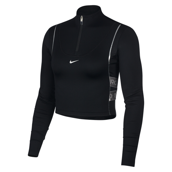 Nike Hyperwarm Half Zip  Women's Top Black