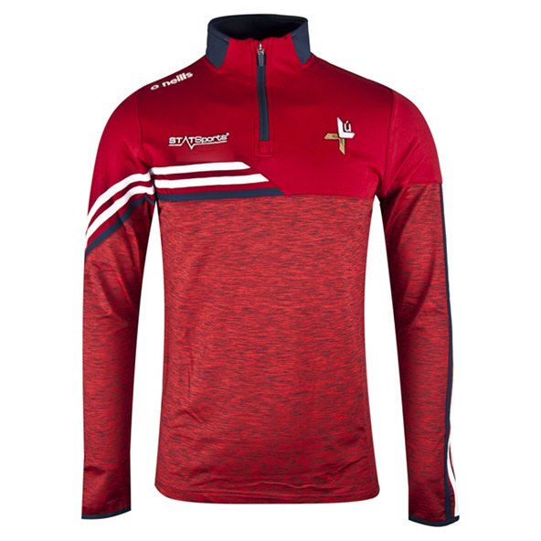 O'Neills Louth Nevis ½ Zip Kids' Brushed Top, Red