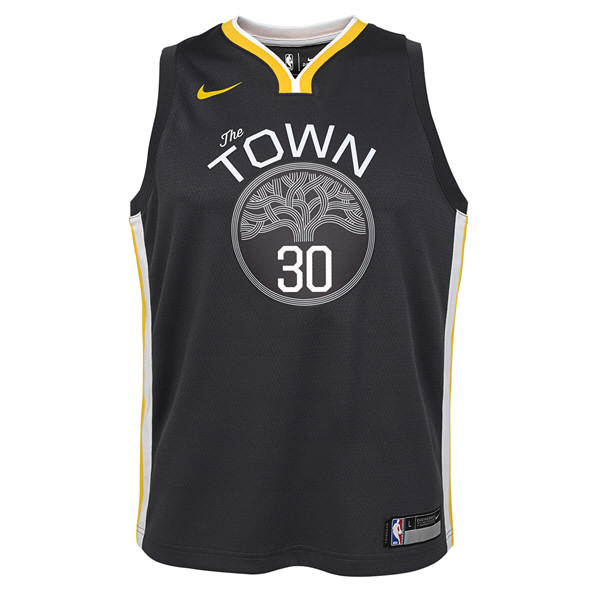 Nike Warriors Curry Kids Jersey Black