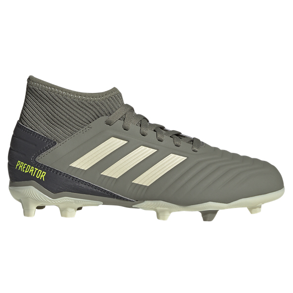 adidas Predator 19.3 FG Kids' Football Boot, Green