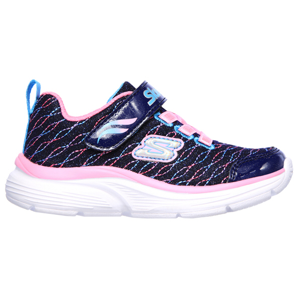 Skechers Wavy Lites Infant Girls' Trainer, Navy