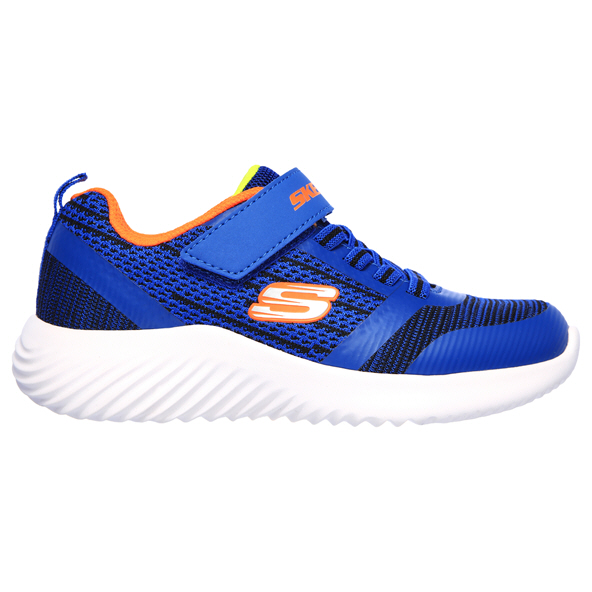 Skechers Bounder Junior Boys' Trainer, Blue