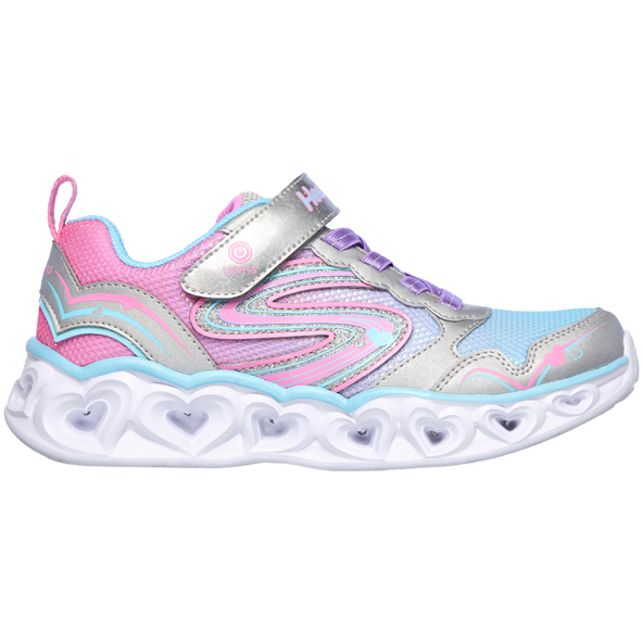 Skechers Heart Lights Junior Girls' Trainer, Pink