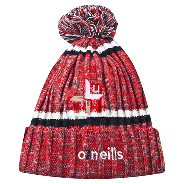 O'Neills Louth Nevis Bobble Hat Red