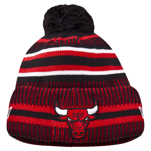 New Era Bulls 19 Bobble Knit Black
