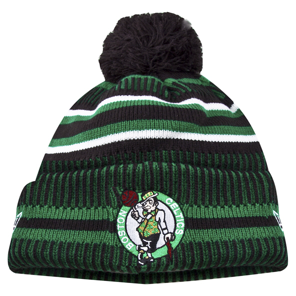 New Era Celtics 19 Bobble Knit Black