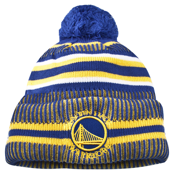 New Era Warriors 19 Bobble Knit Blue
