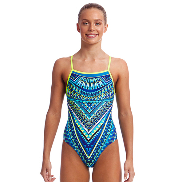 Funkita Strapped Ice Queen Girls' Swimwear Blue