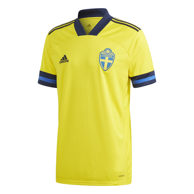 adidas Sweden 2020 Home Jersey, Yellow